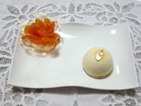 Semisfera soffice al mandarino