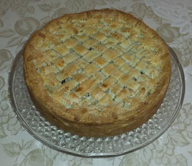 Timballo di tortellini al tartufo in crosta semidolce