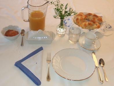 Tavola per la prima colazione