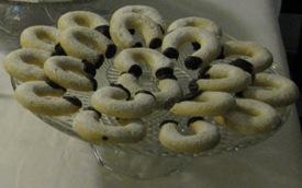 Cornetti alla vaniglia e cioccolato