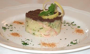 Tortino di polpo e patate con tapenade di olive taggiasche