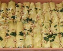 Cannelloni di zucchine, Leggero di Alta Langa e ricotta