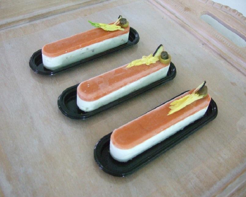 Un Fashion éclair salato - gelée di peperoni rossi,