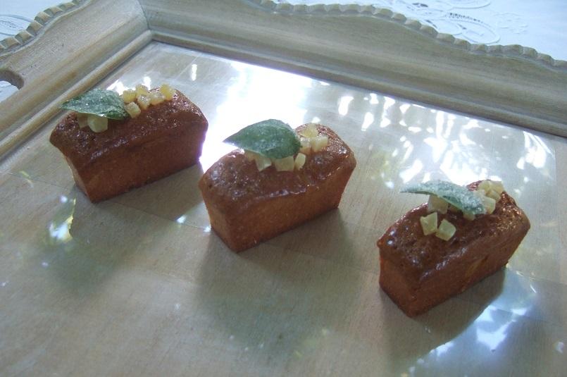 Mini cakes zenzero e basilico
