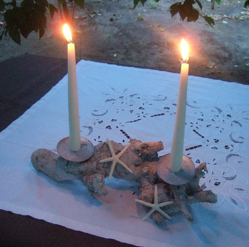 Cena d'estate a lume di candela