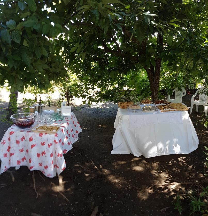 Buffet in giardino